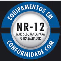 Equipamentos em conformidade com NR-12. Mais segurança para o trabalhador.