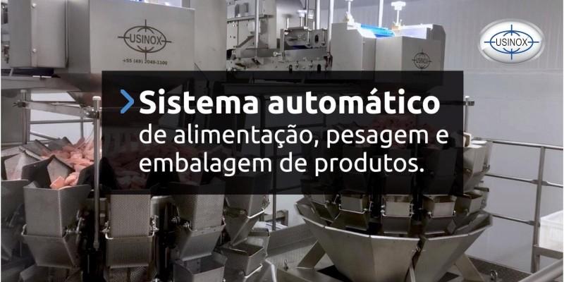 Sistema automático de alimentação, pesagem e embalagem de produtos