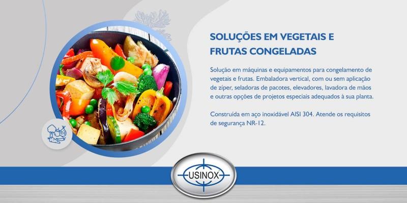 Solução em máquinas e equipamentos para embalagem de vegetais e frutas congelados